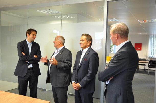 Andreas Jung besucht die pvs MEFA Reiss